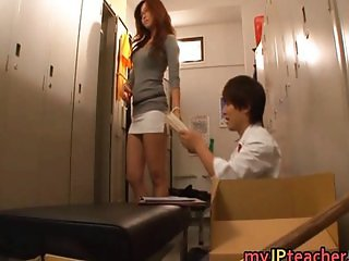 Kaori Hot Japanese teacher getting