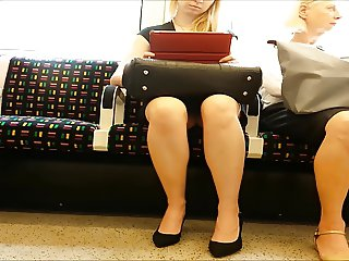 Upskirt on Morning Train
