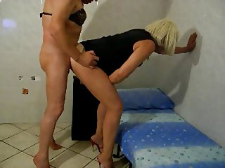 Crossdresser fuck on heels 2