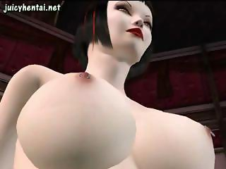 Obscene 3D animated belles with sweet pookies do some machine fucking and lesbian sex