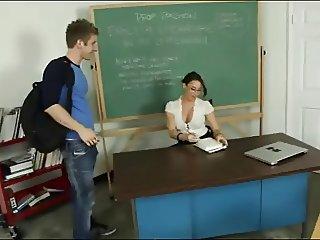 Young teacher taste sperm student