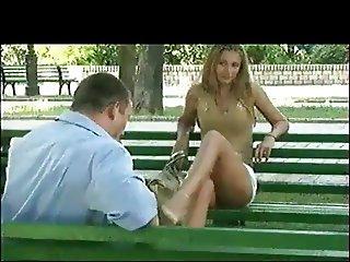 Upskirt in Public Park by TROC