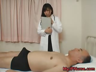 Japanese doctor is horny for cock part1