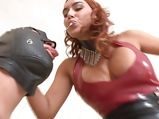 Boot licking bitch Mistress Megan