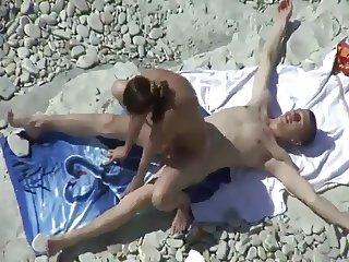 Hot bitch fucking at the beach