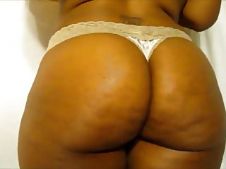 Phat Ebony Booty in a Thong