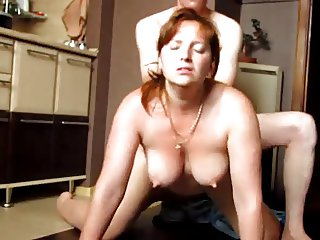 Milf with awesome nipples doggy fucked