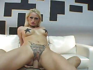 Alira Astro showing tattoos and fucking