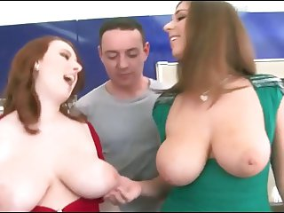 Big Natural Boobs Redhead And Brunette