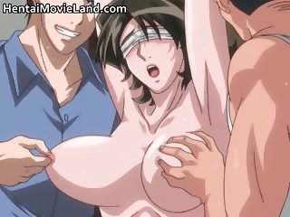 Big boobed anime hot sexy babe gets part1