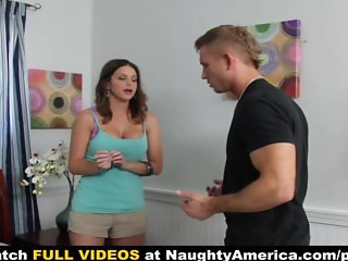 Sexy brunette gets her pussy stuffed by her friend s husband