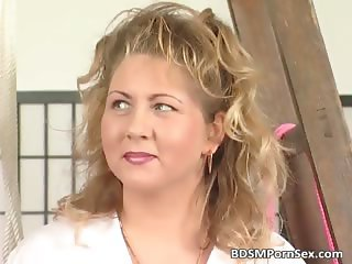 Mature blonde BBW slut entangled part3