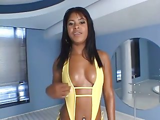 Hot babe wants cock in all holes