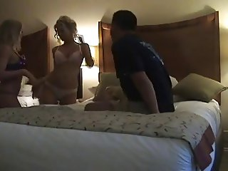 Lucky Guy has a Threesome with Two Horny Lovelies