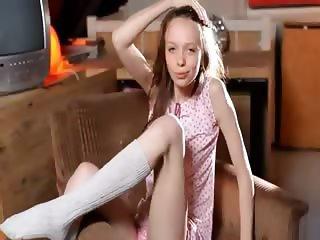 White socks and insanely angular girl