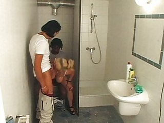 Blond cleaning lady pussy fuck