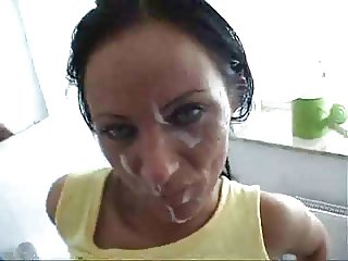 Hot Horny Milf Fucking In The Toilet And Facially Creamed