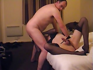 OLD chubby DAD suck FUCK assplay OIL cd TV BLACK lingerie