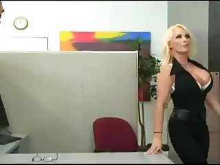 Hot Busty Cougar Holly Office Romp