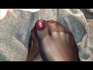 Cummy Nylon Feet Wolford Pantyhose Masturbation