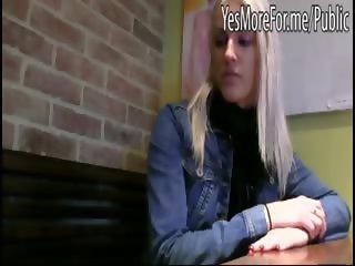 Beauty blonde accept cash for public sex