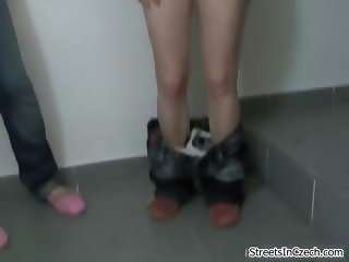 Two horny amateur girls sucking dick part4