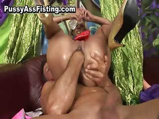Filthy whore asss riding cock and gets part2