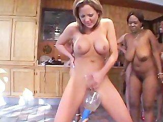 Lesbian Bukkake 1