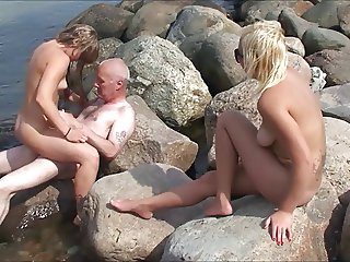 Beach bitches horny grandpa