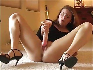 German Girl Doing Hot Dildo Orgasm