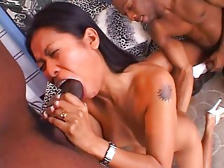 Priva facefucked by several guys