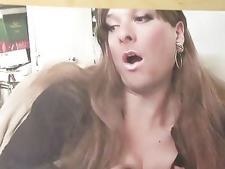 Cumshot on hot crossdresser