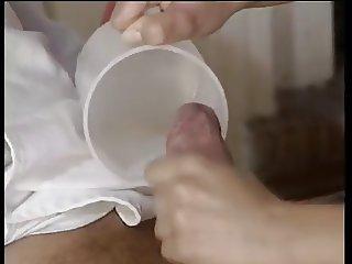 Nurse cum in the cup