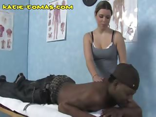 Interracial Dual Massage For Blonde