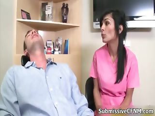 Naugty horny guy who is medical patient part1