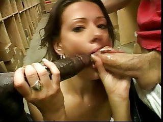 British slut Allura gets fucked in a FMM threesome