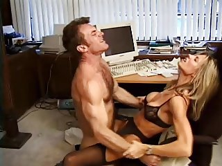 She watches him fuck a ruber pussy