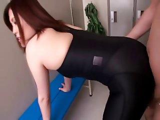 spandex leggings cumshot