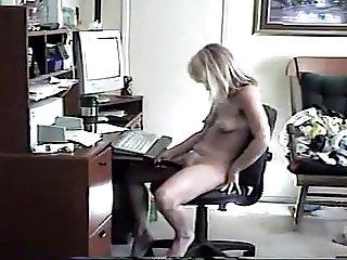 Female masturbating to porn