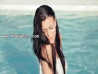 Incredible pool wow sex with hot model