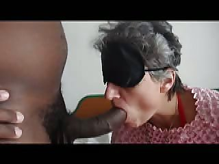 submissive housewife blowjob to her BBC boss