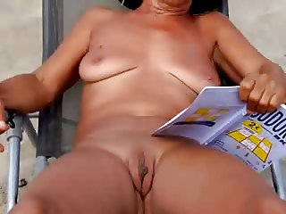 Amateur Beach Voyeur Saggy Tits MILF