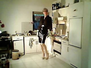 latex rubber anal fetish shemale MILF slut high heels