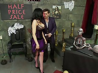 British slut Natasha in a FFM threesome