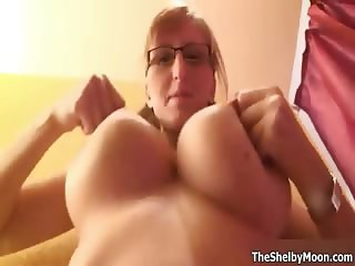 Nasty blonde gets horny rubbing part1