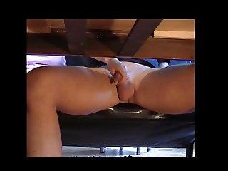 Handjob under the table