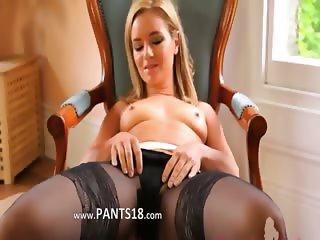 Black stocking and super panties