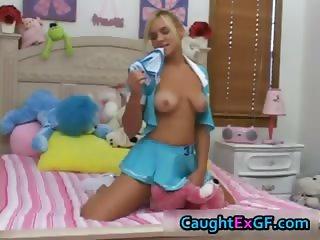 Kinky teen slut sniffing her own panties part5