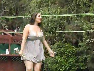 Bambi girl in outdoor