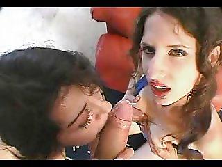 Hairy Princesses Lena And Skylar Prep For Jizz